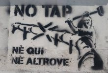 """""""NO TAP, nè qui nè altrove!"""" – Saccheggiatore è lo Stato, Devastatore è il Capitalismo!"""